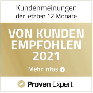 provenrxpert 2021 von kunden empfohlen